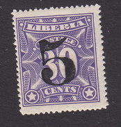 Liberia, Scott #130, Mint Never Hinged, Number Surcharged, Issued 1914 - Liberia