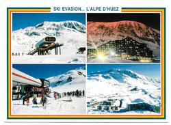 38 - SKI EVASION ... L'ALPE D'HUEZ - Multivues - Ed. CAP THEOJAC - 1989 - Francia