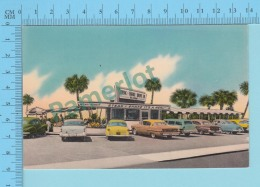 Daytona Florida - Old Car At  Steak N Shake Drive In  -   Postcard Post Card -2 Scans - Daytona