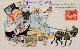 Politique - Humour - Le Déménagement De Monsieur Fallières - En Route Pour Le Loupillon - Satiriques