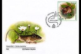 ESTONIA 2016 FDC Estonian Fauna - Northern Birch Mouse - Rongeurs