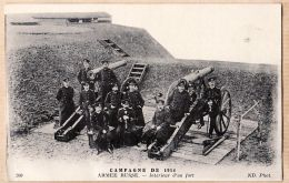 Mi128 Russian Army  06-05-1915 CpaWW1 Campagne De 1914 ARMEE RUSSE Intérieur D'un Fort NEURDEIN 200 - War 1914-18