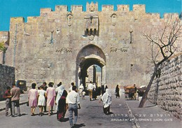 ISRAEL----JERUSALEM---ST.STEPHEN'S (lion) GATE---voir 2 Scans - Israel