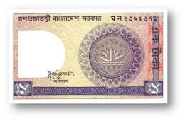 BANGLADESH - 1 Taka - ND ( 1982 ) - Pick 6 B.a - AUnc. - See Signature Six Varieties - 2 Scans - Bangladesh