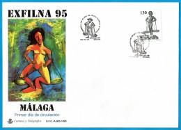 España. Spain. 1995. FDC. EXFILNA 95. Exhibicion Filatelica. Philatelic Exhibition. Malaga - FDC