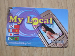 Prepaid Phonecard,beauty In Screen Of Mobile,used - Korea (Zuid)