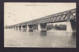 CPA 58 - COSNE-SUR-LOIRE - Pont Sur Le P.O. TB PLAN + TB Oblitération CONTROLE 2 ?? Militaire 1917 - Cosne Cours Sur Loire