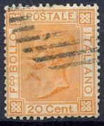 Stamp,Francobollo Italy 1867-77 20c King Victor Emmanuel II Used Lot#24 - 1861-78 Vittorio Emanuele II