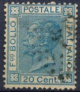Stamp,Francobollo Italy 1867-77 20c King Victor Emmanuel II Used Lot#31 - 1861-78 Vittorio Emanuele II