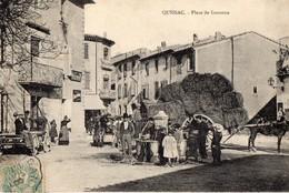 QUISSAC // PLACE DE LA GARONNE// Circulée - Quissac