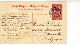 Belgian Congo / Illustrated Stationery Postcards / Waterfalls - Belgique