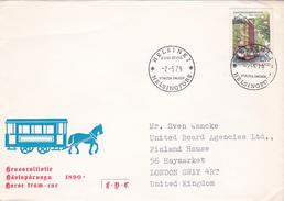 Finland 1979 Horse Tram  FDC - Tramways