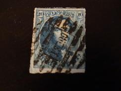 Belgique-médaillons 20c Bleu- 8 Barresobl Ouest (Molenbeek) - 1849-1865 Medaillen (Sonstige)