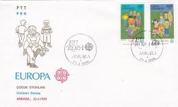 Turkey 1989 FDC Europa CEPT  - Children's Games (G47-9) - 1989