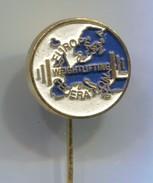 Weightlifting - EUROPEAN FEDERATION, Vintage Pin Badge, Abzeichen - Weightlifting