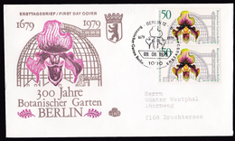 Germany Berlin: FDC First Day Cover, 1979, 2 Stamps, Botanical Garden, Orchid Flower (traces Of Use) - [5] Berlijn