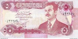 IRAQ 5 DINARS 1992 P-80c UNC PRINTED IN IRAQ WITHOUT EMBOSSED TEXT [IQ337b] - Iraq