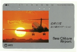 Giappone - Tessesa Telefonica Da 105 Units T189 - NTT, - Avions
