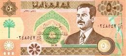 IRAQ 50 DINARS 1990 P-75 UNC [IQ332a]