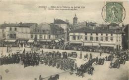 COGNAC - FETES DE LA VICTOIRE 14 JUILLET 1919 - DEFILE DES SAPEURS POMPIERS - Cognac