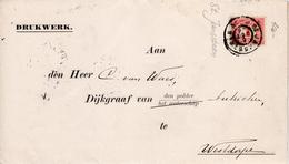1904  Drukwerk Van ST.JANSSTEEN (grootrond) Naar Westdorp[e Via SAS VAN GEND - Periode 1891-1948 (Wilhelmina)