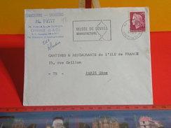Marcophilie > Lettre > Flamme > 92 Hauts-de-Seine > Sèvres > Musée De Sèvres, Manufacture -1969 - Marcophilie (Lettres)