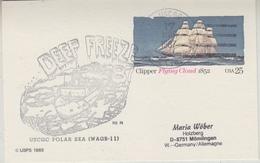 "USA 1987 Postal Stationery ""Clipper Flying Cloud""  Ca Deep Freeze 87 / Pölar Sea (34218) - Poolshepen & Ijsbrekers"