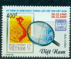 VIETNAM 2000 STAMP DAY - 40TH ANNIV. OF PHILATELY UNION MNH M00342 - Viêt-Nam