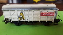 Märklin Cambrinus 324, +- 1952,gietijzer?,13.5 Cm, Bespeeld Maar Compleet, Veer Onderaan Beetje Uitgerokken,beetje Roest - Wagons Marchandises