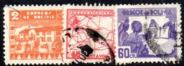 NA11A - BOLIVIA 1928,  Yvert N. 213/221  Usata - Usati