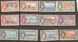 Bahamas 1954 SG 201-212 Excluding 209,212  Mounted Mint - Bahamas (...-1973)