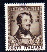 T601 - REPUBBLICA 1948 , N. 593 Usato Doninzetti : Leggero Decalco - Varietà E Curiosità