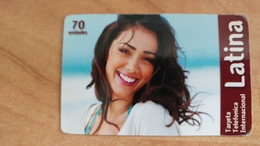 Israel-latina-(1)-tarjeta Telefonica International-(70unidades)--3/2013-used Card - Israele