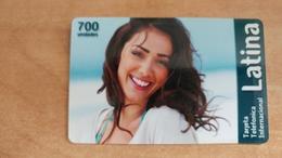 Israel-latina-(2)-tarjeta Telefonica International-(70unidades)--3/2013-used Card - Israele