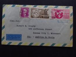 Cover Brasil Via Aérea Par Avion Barbosa Julio Mesquita To Missouri USA 1963 - Briefmarken