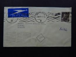 Cover South Africa Johannesburg Air Mail Par Avion To England 1947 - Postzegels