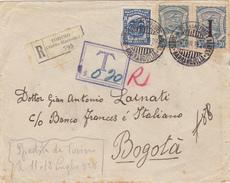 ITALIE  LETTRE PARTIE DE TURIN AVEC LE SERVICE AERIEN DE L'AMBASSADE DE COLOMBIE  1928 - 1900-44 Vittorio Emanuele III