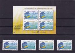 BAHAMAS : Cinquantenaire De Europa : Y&T : ** : 1213 à 1216 BF 103 - 2005