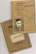 Soldbuch Gebührnisburg Dienst Ausweis Kriegsmarine Paris 1942 - Documenti Storici