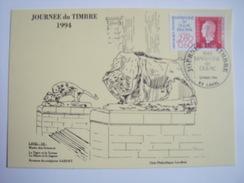 LAVAL - 53- Journée Du Timbre Le 12 Mars 1994 Carte Postale Locale Musée Des Sciences - FDC