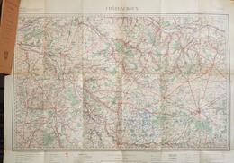 Service Géographique De L'Armée, Carte Routière De France Au 200 000e - Feuille Chateauroux (Indre) - Roadmaps