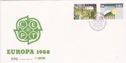 Ireland 1988 FDC Europa CEPT  Transportation And Communications (LAR2-L) - 1988