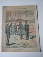 CAHIER ECOLE 1903 ENTIEREMENT ECRIT EPISODES MILITAIRES LE CANON Imp CHARAIRE Dessin  JOB - Bambini