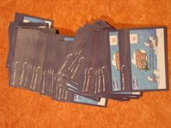 Les Schtroumpfs Et Super U - Cartes à Collectionner Et Autocollants - Lot De 51 Carnets De 4 Autocollants + 2 Cartes - Documentos Antiguos