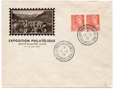 Enveloppe Souvenir 'Exposition Philatélique' De Saint Claude (Jura) 1939 - 1921-1960: Periodo Moderno