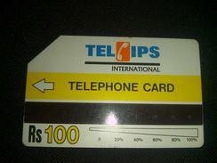 Pakistan Telips Phonecard Used