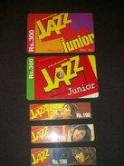 Pakistan Mobilink Jazz Phonecards Used - Telefoonkaarten