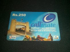 Pakistan Callmate Rs 250 Phonecard Used - Other – Asia