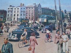 D145025 IRELAND Irlando - Dublin  O'Connell Street  -many Stamps  -esperanto  Postcard 1951to Ilona Miszlay Hungarujo - Esperanto