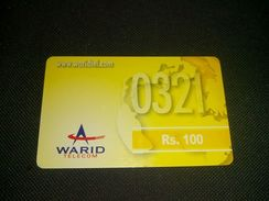 Pakistan Warid Rs 100 Phonecard Used - Télécartes